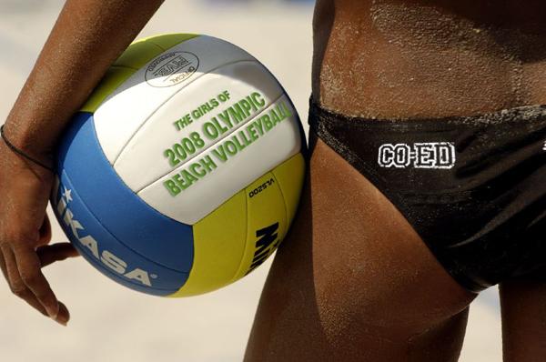 Coed-beachvolleyball
